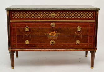 An Important Swedish Gustavian Commode by Nils Petter Stenström With Original Marble top. - Image 1