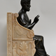 A bronze sculpture of St. Peter seated on a marble throne chair, 19th century after Arnolfo di Cambio (1245-1302) - Image 3