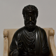 A bronze sculpture of St. Peter seated on a marble throne chair, 19th century after Arnolfo di Cambio (1245-1302) - Image 4