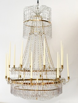 A Large Swedish Gilt-Metal and Cut-Glass Chandelier, circa 1800 - Image 1