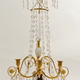 A Pair Of Swedish 18th Century Gustavian Crystal And Gilt Bronze Candelabra With White Marble And Faux Porphyry Bases.  - Image 4