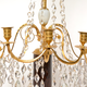A Pair Of Swedish 18th Century Gustavian Crystal And Gilt Bronze Candelabra With White Marble And Faux Porphyry Bases.  - Image 6