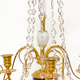 A Pair Of Swedish 18th Century Gustavian Crystal And Gilt Bronze Candelabra With White Marble And Faux Porphyry Bases.  - Image 7