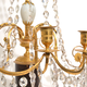 A Pair Of Swedish 18th Century Gustavian Crystal And Gilt Bronze Candelabra With White Marble And Faux Porphyry Bases.  - Image 8