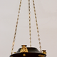 An Unusual Patinated and Gilt-Bronze Swedish Empire Chandelier In The Egyptian Style.  Ca. 1810-20 - Image 2