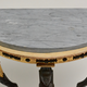 A Late Gustavian Gilt Wood Demi Lune Console Table With A Blue Turquin Marble Top, ca.1805  - Image 5