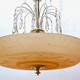 A Swedish Glass and Silvered Art Deco Ceiling Lamp, Circa 1930.   - Image 3
