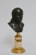 Patinated Louis XVI Bronze Bust of Benjamin Franklin.