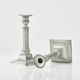 Pair of Swedish Gustavian Pewter Candlesticks by Wilhelm Helleday, 1799. - Image 3