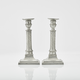 Pair of Swedish Gustavian Pewter Candlesticks by Wilhelm Helleday, 1799. - Image 2