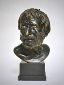 A 19th Century Italian Bronze Bust Study of Seneca
