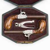 A Pair Of Mid 19th Century Belgian Percussion Pistols