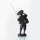 A Japanese Bronze Figure Of A Fisherman - Image 3