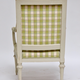 Pair of Gustavian Grey Painted Arm Chairs.  - Image 5