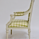 Pair of Gustavian Grey Painted Arm Chairs.  - Image 4