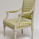 Pair of Gustavian Grey Painted Arm Chairs.  - Image 2