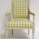 Pair of Gustavian Grey Painted Arm Chairs.  - Image 3