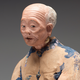 Chinese Sculptured And Painted Clay Figure Of An Elderly Man.19th century - Image 2