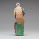 Chinese Sculptured And Painted Clay Figure Of An Elderly Man.19th century - Image 4
