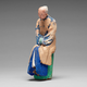 Chinese Sculptured And Painted Clay Figure Of An Elderly Man.19th century - Image 3