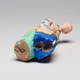 Chinese Sculptured And Painted Clay Figure Of An Elderly Man.19th century - Image 5