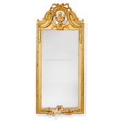 Swedish Gustavian Wall-Mirror, 18th Cent. Signed Johan Åkerblad, Stockholm.