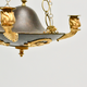 Swedish Empire Gilt And Patinated Bronze Chandelier, ca.1810 - Image 4