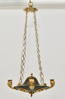 Swedish Empire Gilt And Patinated Bronze Chandelier, ca.1810 - Image 1