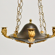 Swedish Empire Gilt And Patinated Bronze Chandelier, ca.1810 - Image 2