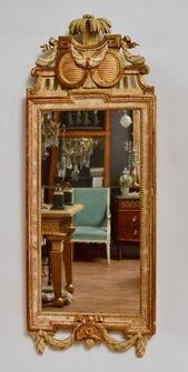 Gustavian Wall-Mirror, Giltwood, By Johan Åkerblad, 18th Century - Image 1