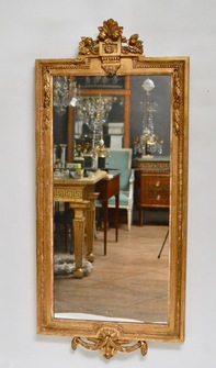 Gustavian Wall-Mirror, Giltwood, 18th Century - Image 1