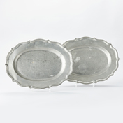 A Pair Of Swedish Rococo Pewter Serving Dishes.