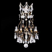 A Rock Crystal Louis XV Style Chandelier, 19th Century