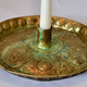 Swedish 18th Century Brass Candlestick.  - Image 2