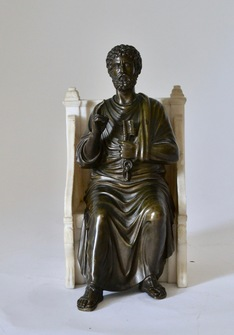 A Grand Tour Bronze Sculpture of St. Peter  - Image 1