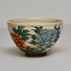 Japanese Glazed Tea Bowl With Floral Decoration - Image 2
