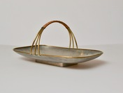 Svensk Tenn Pewter Cookie Dish With Handle, Mid 20th Century