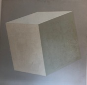 "Nalle Werner (1913-1991) ""Portrait of white Cube in white room"""