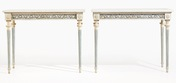 Pair of important gustavian console tables, 1790