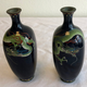 Pair of small Japanese cloisonné vases - Image 7