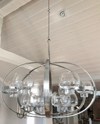 Chandelier by Erik Höglund (1932-1998). Designed in the 1970s and made by Lars Larsson