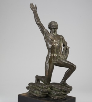 Orfeus. Bronze sculpture by David Wretling (1901-1986) - Image 1