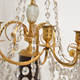 A Pair Of Swedish 18th Century Gustavian Crystal And Gilt Bronze Candelabra With White Marble And Faux Porphyry Bases.  - Image 3