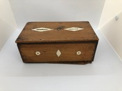 A Swedish Money Box made out of mahogany and bone, early 19th c