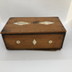 A Swedish Money Box made out of mahogany and bone, early 19th c - Image 1