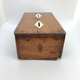 A Swedish Money Box made out of mahogany and bone, early 19th c - Image 3