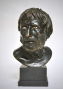 Italian bronze bust depicting Zeneca, 19th c.