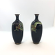 Pair of small Japanese cloisonné vases - Image 2