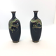 Pair of small Japanese cloisonné vases - Image 1