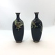Pair of small Japanese cloisonné vases - Image 3